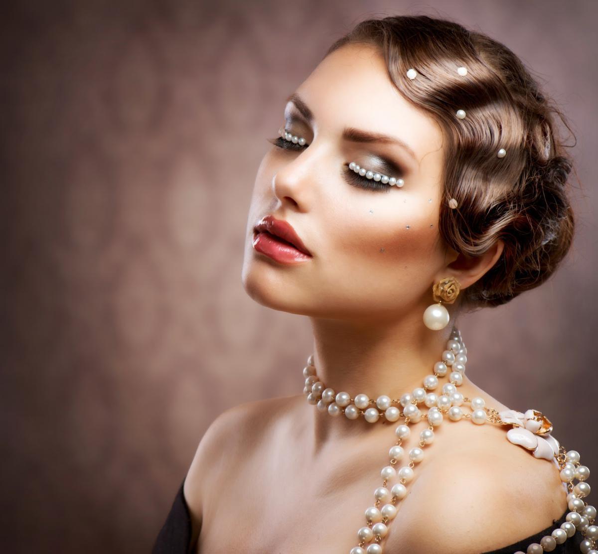 Элегантная девушка жемчуг фото 20 фотография